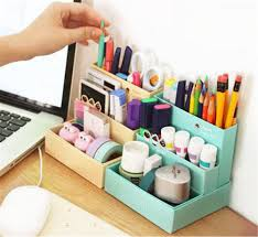 diy office desk accessories. Online Cheap Diy Paper Board Storage Box Desk Decor Stationery Makeup Cosmetic Organizer By Santi | Dhgate.Com Office Accessories E