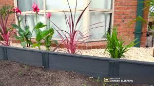 ekologix garden sleepers installation with steel posts