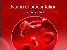 Red Blood Cells Powerpoint Template Backgrounds Google Slides