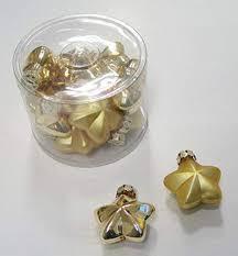 Weihnachtsbaumschmuck Sterne Aus Glas Gold ø 60mm 12 Stück Pack Glänzend Und Matt Gemischt
