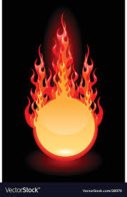 fire frame royalty free vector image