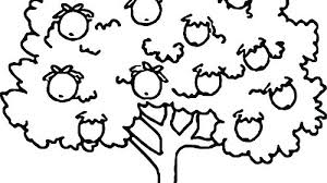 Coloring Page Of An Apple Coloring Pages For Preschoolers Fruit