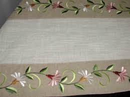 Machine Embroidery Designs For Bed Sheets Flower Vine Design Machine Embroidery Table Runner Hand