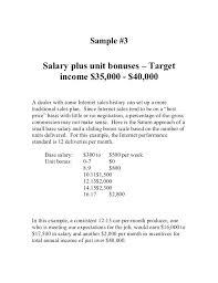 Commission Plan Template Executive Compensation Plan Template Sales ...