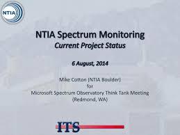 Ppt Ntia Spectrum Monitoring Current Project Status 6