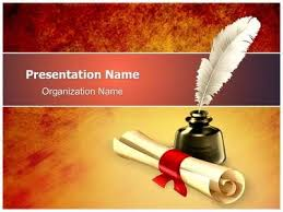 Scroll Powerpoint Template Ancient Scroll With Ink Powerpoint Template Is One Of The