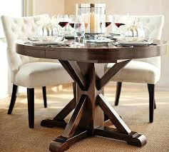 pottery barn dining table. Round Dinning Tables Extending Pedestal Dining Table Alfresco Brown Pottery Barn Near Me
