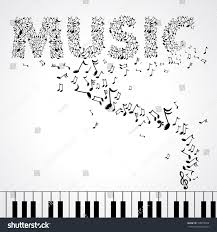 music notes in words black illustration music notes create words stock vector