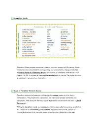 transition words and phrases jpg cb  8 connecting words