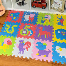 12Pcsset Baby foam floor mats EVA zodiac animals floor pad crawling