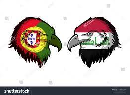Portugal Vs Iraq Stock Illustration 1148329277