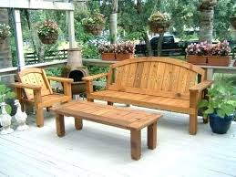 wood outdoor furniture solid western red cedar patio set benches garden ideas wooden cape town