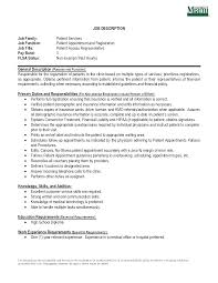 Patient Service Representative Resume Examples Examples Of Resumes