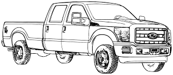 Printable Coloring Sheets Of Cars And Trucks
