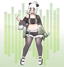 All of the artwork shown is made by magicstraw music from this video. Artstation Closed Adoptable Chubby Panda Girl Chanrin Park
