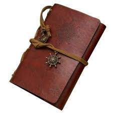 presyo ng classic retro vintage leather pirate bound blank pages notebook journal diary red mix brown sa pilipinas