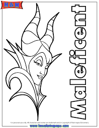 Small Picture Maleficent 2014 Movie Coloring Page H M Coloring Pages