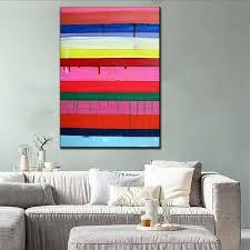colorful canvas prints modern wall painting unframed abstract wet paint paints oil paintings on canvas