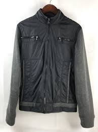 guess mens windbreaker jacket sz s nylon black