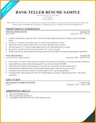 Bank Teller Resume Skills And Qualifications Resumes For Tellers Job