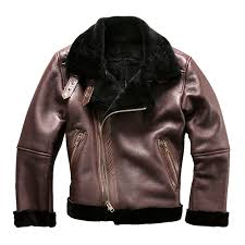 asian size super quality warm genuine sheep fur leather jacket mens winter