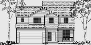 housing floor plans. 10023wd 3 Bedroom House Plans, 40 Wide Narrow Lot Housing Floor Plans