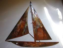 sailboat metal wall art  on yacht metal wall art with sailboats wall decor kemist orbitalshow