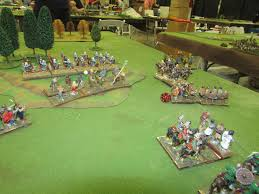 larry hk positions himself and the knights of the round table also hk to receive the flank march