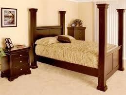diy four poster bed frame | Craftsman High Post Platform Bed Frame ...