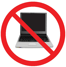 no cell phones or laptops - Clip Art Library