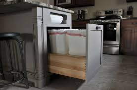 pull out drawer inside the kitchen island