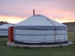 A Ger, the Mongolian nomad house