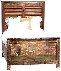 Amazon.com - Reclaimed Wood Bed with Shutter framed Headboard (TWIN) -