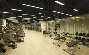gym lighting design. strength training area dynamic cycling classrooms and hiit classroom with intense music the combination of lighting color match gym design u