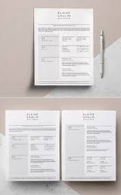Simple Resume Template Cover Letter For Word Pages _ Minimal Cv Template Free Icon Pack _ Clean Cv Template _ Teacher Cv Elaine