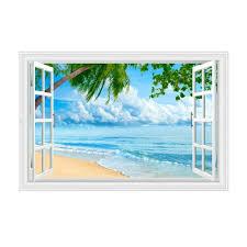 Kentop Wandtattoos 3d Wandbild Geöffnetes Fenster Wandaufkleber