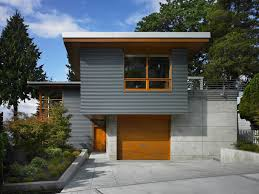 natural wood trim exterior contemporary with metal siding winter outdoor lighted displays