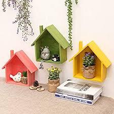 Buy WishBox Multicolor <b>Wooden Wall Hanging</b> Shelves/<b>Creative</b> ...