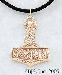 thor s hammer necklace 14k