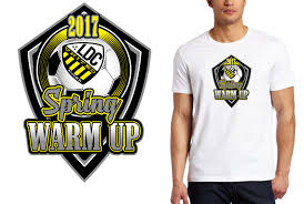 How To Design T Shirt Logo Soccer T Shirt Logo Design Ldc Spring Warm Up By Urartstudio
