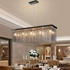 Crystal Lamp Rectangular Dining Room Pendant Lights Hotel Dining Mesmerizing Lamp For Dining Room