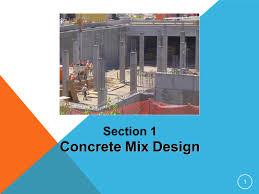 Sans Concrete Mix Design Section 1 Concrete Mix Design Ppt Video Online Download