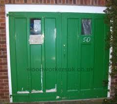 1950 s style timber garage doors