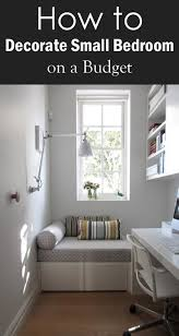 how to decorate small bedroom on a budget