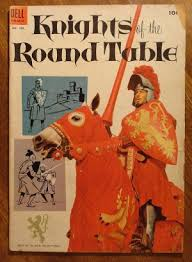 dell four 4 color 540 knights of the round table comic book dell comics 1954