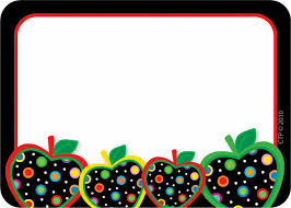teacher apple border clipart. dots on black apples name tags teacher apple border clipart