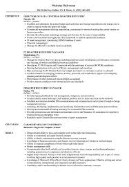 Disaster Recovery Resume Examples Disaster Recovery Resume Samples Velvet Jobs 1