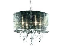 crate and barrel chandelier pendant light new linen drum shade