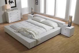 ... Elegant White Bedroom Furniture For Best Elegant White Leatherette  Upholstered Platform Bed MLB MD Q ...