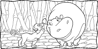 Small Picture Simba And Hippo coloring page Free Printable Coloring Pages